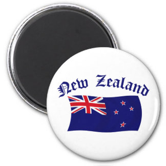 New Zealand Flag - 1 6 Cm Round Magnet