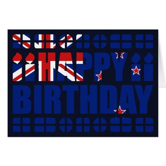 New Zealand Flag Birthday Card