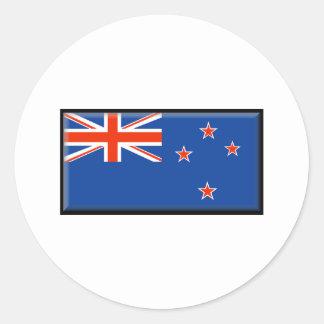 New Zealand Flag Classic Round Sticker
