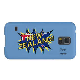 New Zealand flag comic style kapow star Case For Galaxy S5