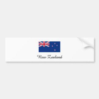 New Zealand Flag Design Bumper Sticker