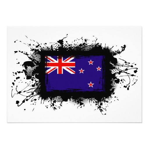 New Zealand Flag Invitations