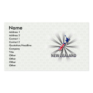 New Zealand Flag Map 2.0 Pack Of Standard Business Cards