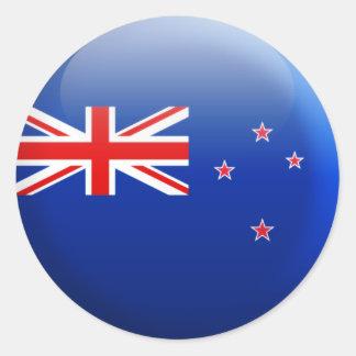 New Zealand Flag Round Sticker