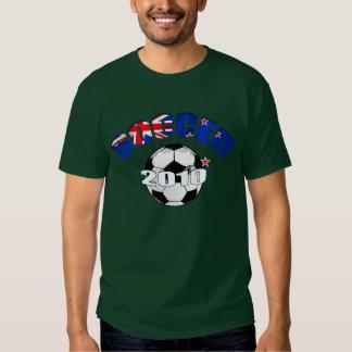 New Zealand Flag soccer ball Artwork T Shirt