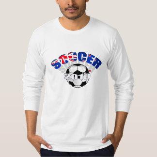 New Zealand Flag soccer ball Artwork Tee Shirt