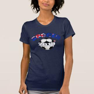 New Zealand Flag soccer ball Artwork Tshirt