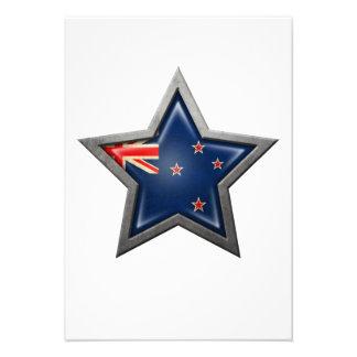 New Zealand Flag Star Custom Invites