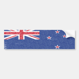 New Zealand Flag Vintage Style Bumper Sticker