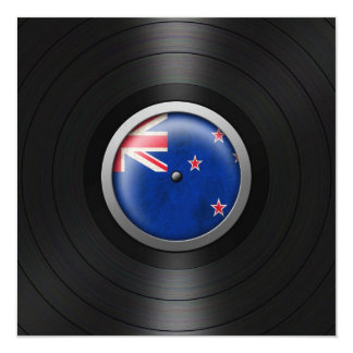 New Zealand Flag Vinyl Record Album Graphic Custom Invites