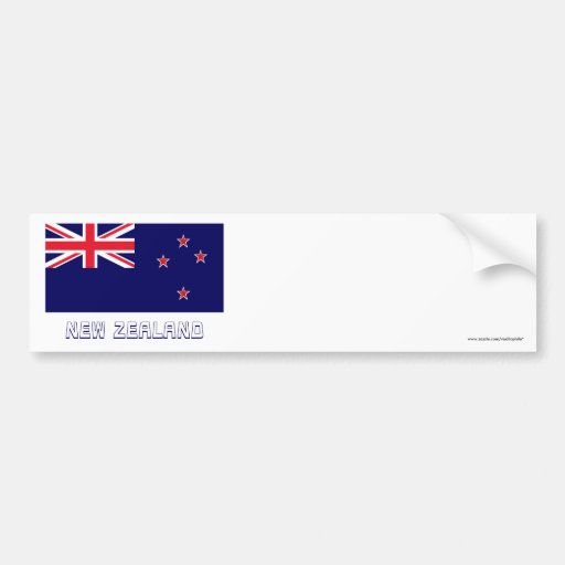 New Zealand Flag with Name Bumper Stickers