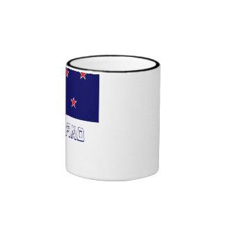 New Zealand Flag with Name Ringer Mug