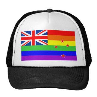 new zealand gay proud rainbow flag homosexual trucker hat