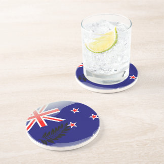 New Zealand glossy flag Coaster