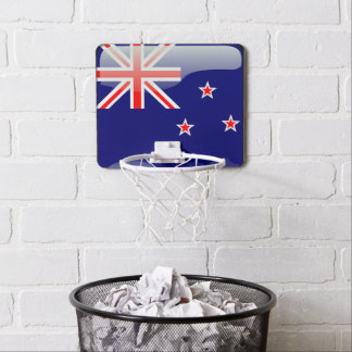 New Zealand glossy flag Mini Basketball Hoop