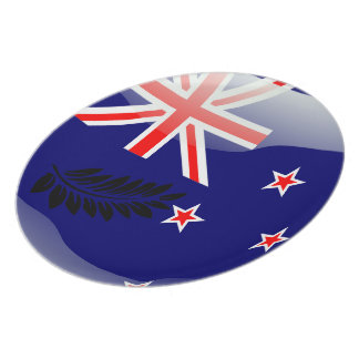 New Zealand glossy flag Plate