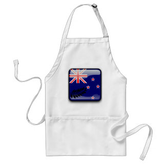 New Zealand glossy flag Standard Apron