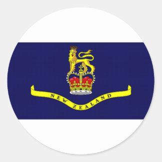 New Zealand Governor General Flag Round Sticker
