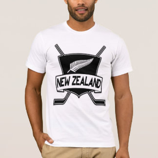 New Zealand Ice Hockey Flag T-Shirt