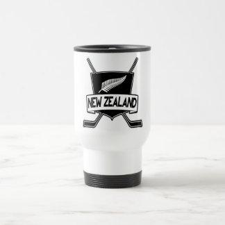 New Zealand Ice Hockey Flag Travel Mug