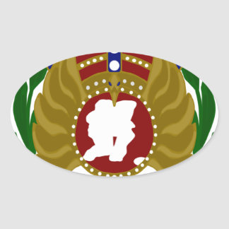 New Zealand Indoor Bowls.png Oval Sticker