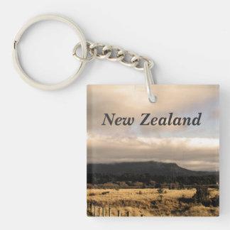 New Zealand Square Acrylic Key Chain