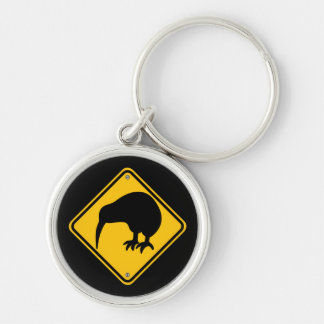 New Zealand Kiwi Crossing Key Ring