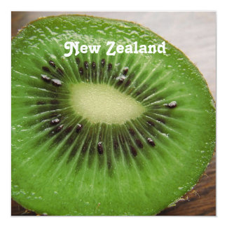 New Zealand Kiwi 5.25x5.25 Square Paper Invitation Card