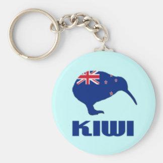 New Zealand Kiwi Keychain Flag