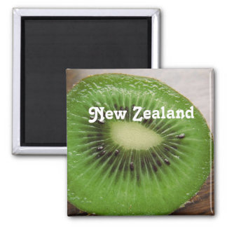 New Zealand Kiwi Square Magnet