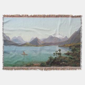 New Zealand Lake Wakatipu Throw Blanket