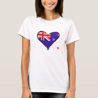 New Zealand love heart flag gifts T-Shirt