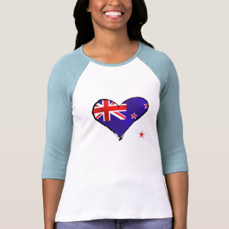 New Zealand love heart flag gifts Shirts