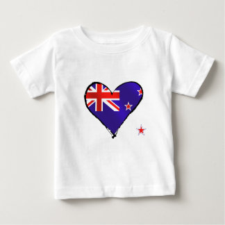 New Zealand love heart flag gifts Tshirt