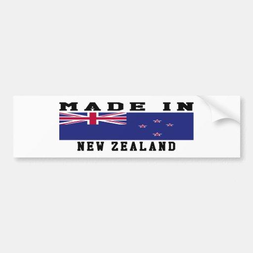New Zealand Made In Designs Bumper Sticker