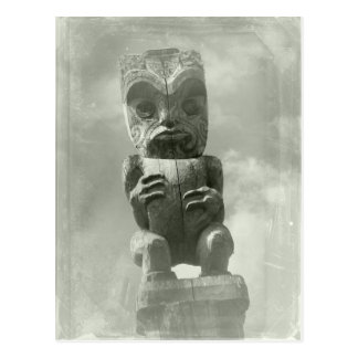 New Zealand Maori Carving Postcard
