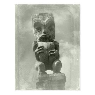 New Zealand Maori Carving Postcard