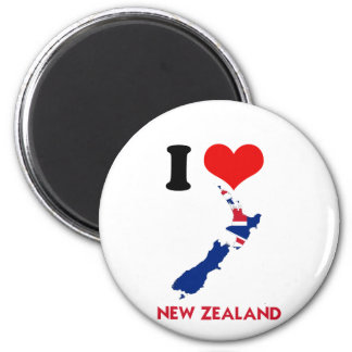 NEW ZEALAND MAP 6 CM ROUND MAGNET