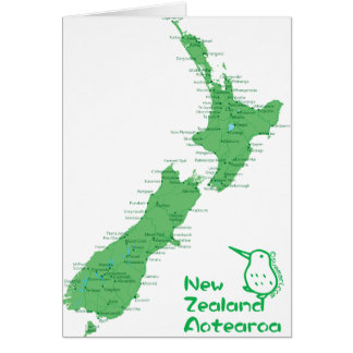 New Zealand Map Card
