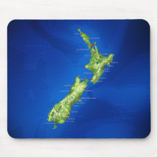 New Zealand Map Mouse Mat