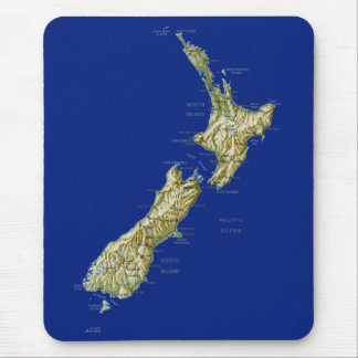 New Zealand Map Mousepad