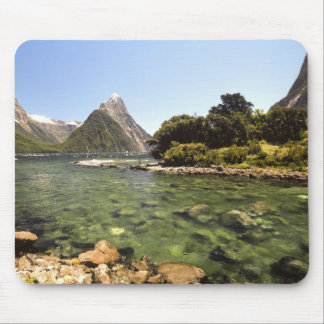 New Zealand, Mitre Peak, & Bowen River entering Mouse Pad