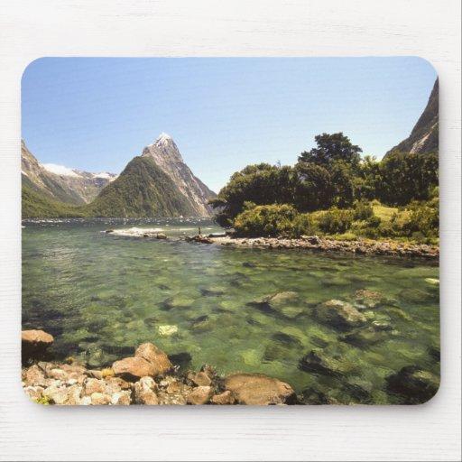 New Zealand, Mitre Peak, & Bowen River entering Mousepads