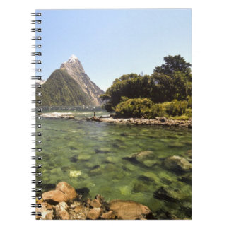 New Zealand, Mitre Peak, & Bowen River entering Notebook