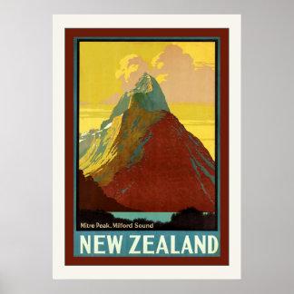 New Zealand ~ Mitre Peak ~ Milford Sound Poster