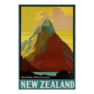 New Zealand ~ Mitre Peak Poster
