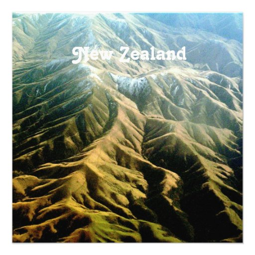 New Zealand Mountains Personalized Invitation