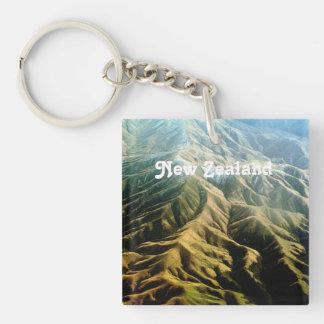 New Zealand Mountains Acrylic Keychains