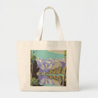 New Zealand Mountian Large Tote Bag