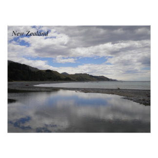 New Zealand nature poster